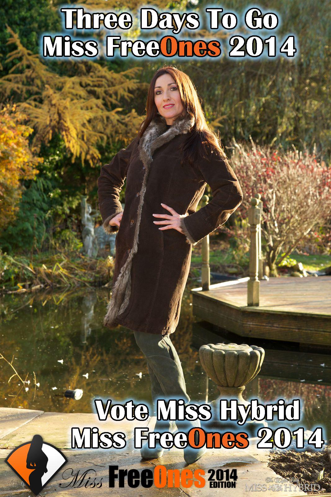 Three Days To Go Final Round Miss FreeOnes, Miss Hybrid, vote Miss Hybrid