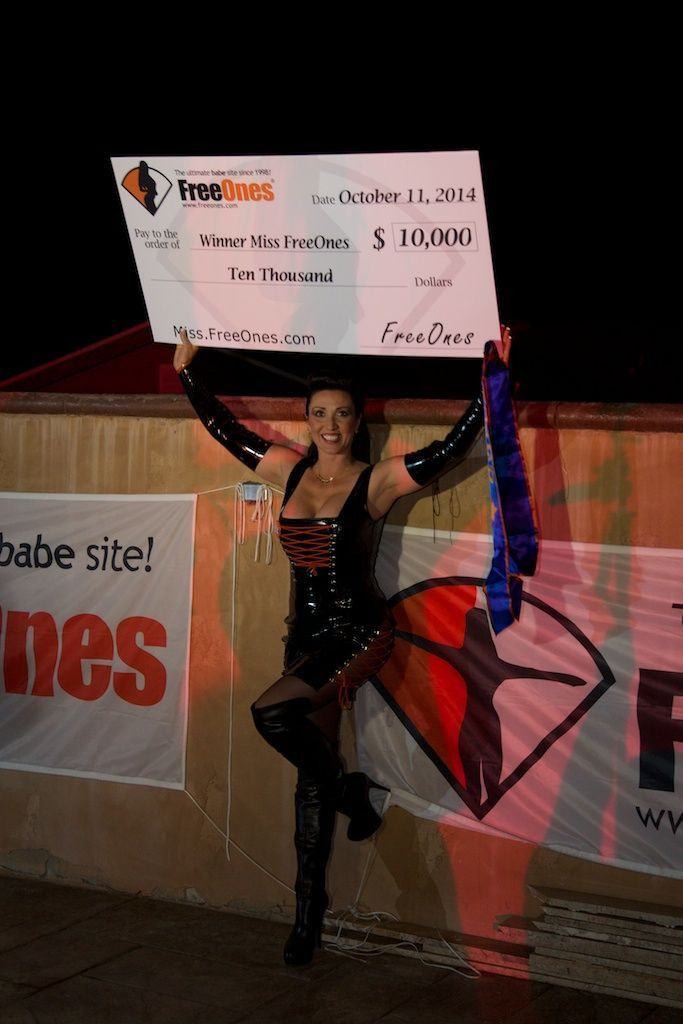 Miss Hybrid Is Miss FreeOnes 2014, Miss Hybrid, FreeOnes party
