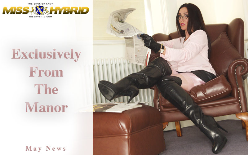 Miss Hybrid May newsletter stockings and thigh boots.