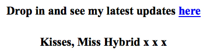Miss Hybrid May newsletter.