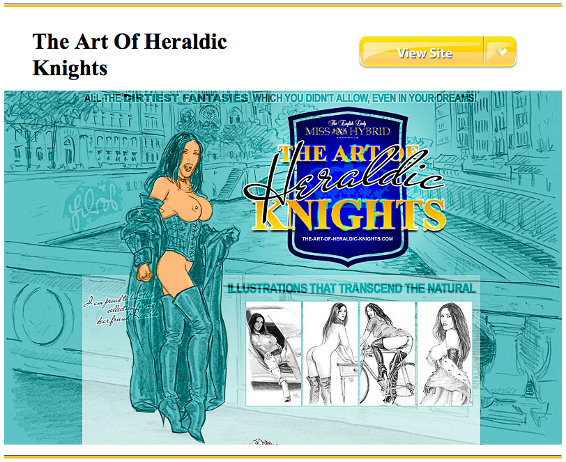 Miss Hybrid the art of heraldic knights