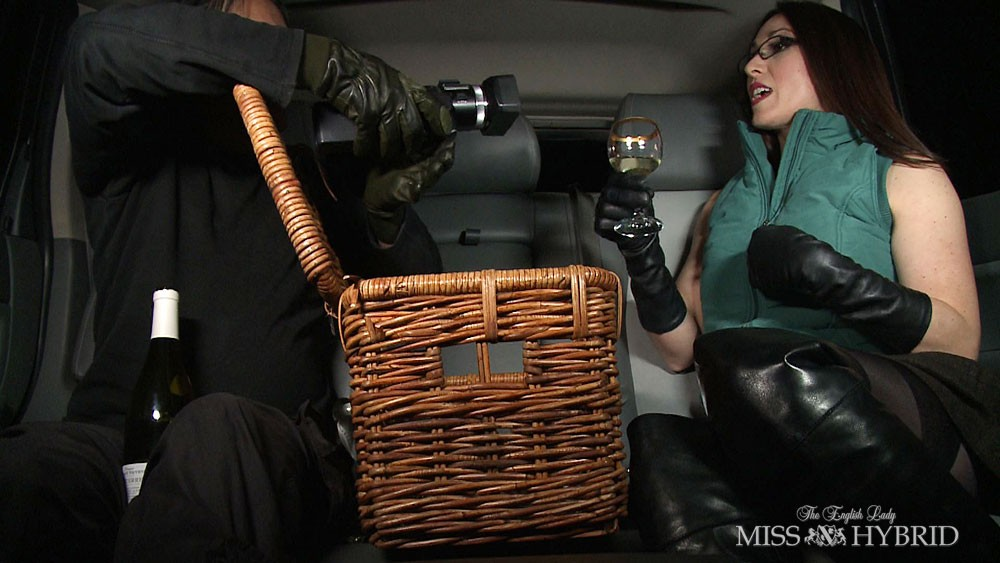 car, miss hybrid, milf, blowjob, boots, Miss Hybrid, Thigh boots