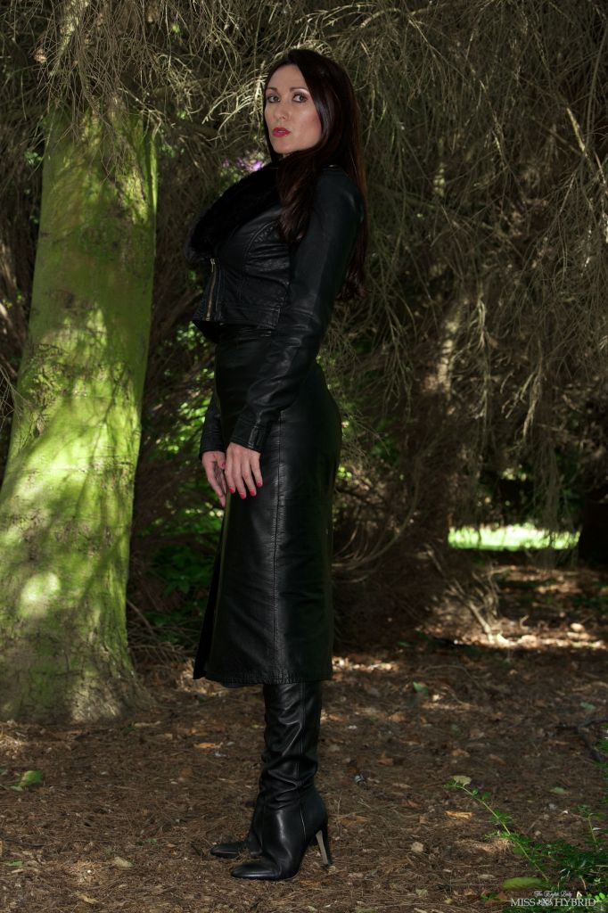 leather boots woodland surprise, Miss Hybrid, thigh boots, leather