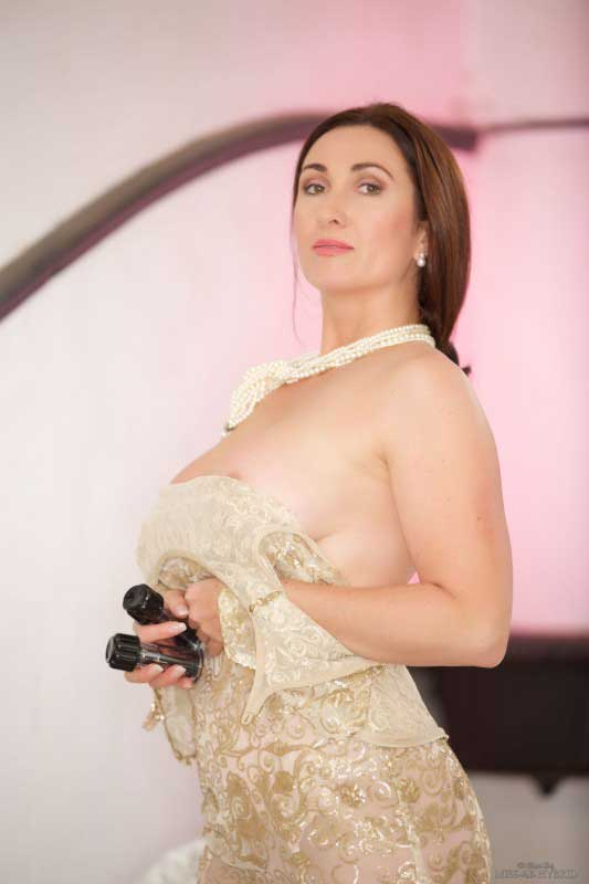 Miss Hybrid sexy see through dress big tits and hard nipples.