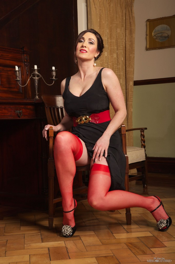 red Hybrid stockings, Miss Hybrid