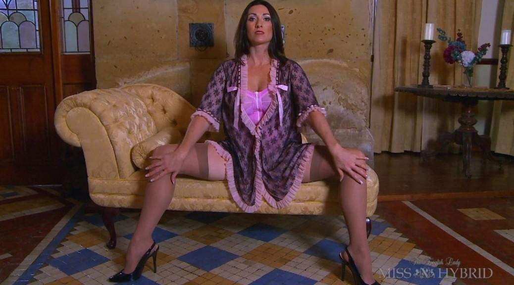 Vintage Lingerie Miss Hybrid, girdle, nylons, stockings, DP, double penetration