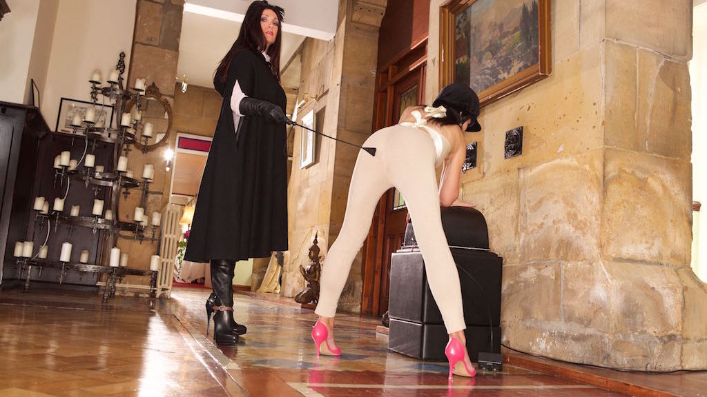 maid duties explained, Miss Hybrid, Jade, mistress, sybian, jodhpurs, thigh boots, crop, domination, leather