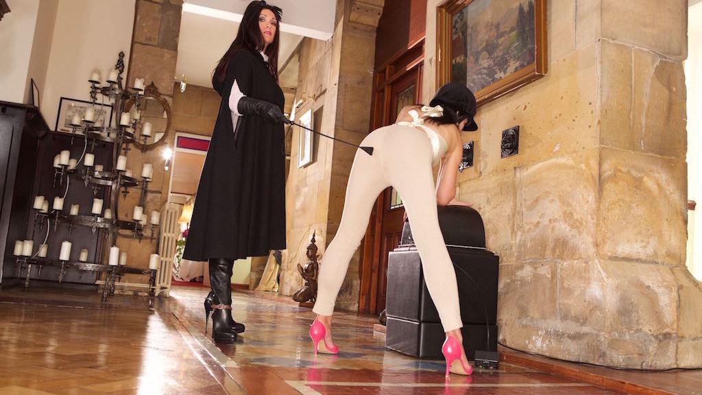 maid duties explained, Miss Hybrid, Jade, mistress, sybian, jodhpurs, thigh boots, crop, domination, leather
