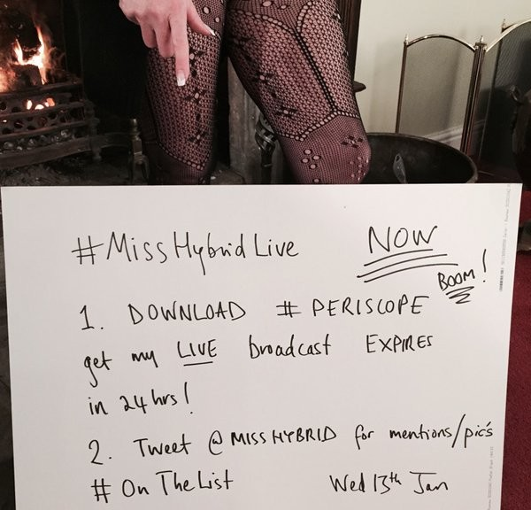 Miss Hybrid live stream body stocking and boots